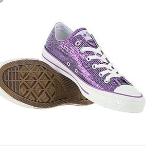 Converse All Star Sparkle Purple Sneakers 6